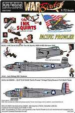 Kits World Decals 1/72 B-25J MITCHELL Bomber Pacific Prowler & The Ink Squirts