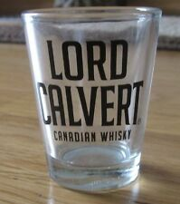SET (2) OF COLLECTABLE LORD CALVERT CANADIAN WHISKEY SHOT GLASSES MADE OF GLASS
