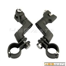 """New Engine Guards Peg Mounts 1 1/2"""" Magnum Clamp For Replacement Longhorn Offset"""