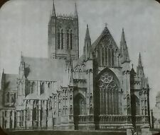Lincoln Cathedral East End, England, Magic Lantern Glass Slide