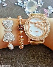 Hello Kitty Watch and Swarovski Bead Bracelets (Arm Candy Set) (in gift box)