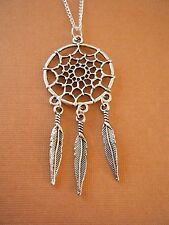 "FREE GIFT ** ANTIQUED SILVER ""Dream Catcher"" PENDANT WITH 16"" CHAIN NECKLACE"