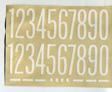 vtg impko water decal numbers letters hot rod drag race motorcycle white