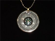 QUANTUM PENDANT Compass Design W/Ring 6000 Neg Ions With Scalar Energy