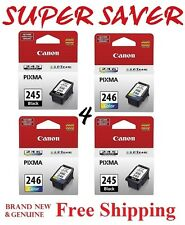 *GENUINE* Canon PG 245 & CL 246 Ink for Canon printer, 4 PK Super bundle NEW!