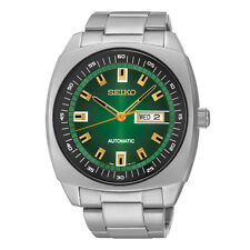 Seiko - Recraft Automatic Green Dial Stainless Steel Mens Watch - SNKM97