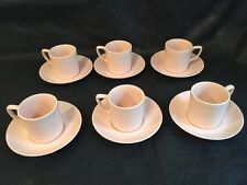 Vintage! Johnson Bros England Rosedawn Pale Pink Demitasse Espresso Set of 6