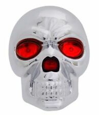 "SKULL 1.25"" & 2"" TRAILER TOWING HITCH RECEIVER COVER WITH LED EYES BRAKE LIGHT"