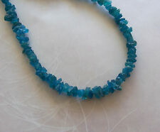 """8"""" Strand Teal Blue Apatite Gemstone Small Rough Nugget Chip Beads 4mm-6mm"""