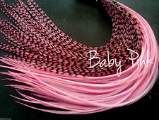 Feather Hair Extensions Long Baby Pink Premium Grade Grizzly And Solid