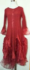 Jerry T Stretchy Dress 1X 18 20 Plus Size Red Party Dress Boutique SR113 NWT