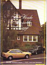 1979 HONDA CIVIC & ACCORD Australian Range Brochure