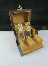 Rare Victorian Marquetry Folding Perfume Scent Bottle Casket