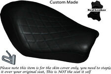 DIAMOND STITCH BLACK CUSTOM FOR HARLEY SPORTSTER LOW IRON 883 SOLO SEAT COVER