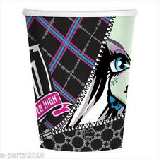 MONSTER HIGH 9oz PAPER CUPS (8) ~ Birthday Party Supplies Beverage Drinking