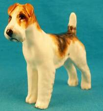 Wire-haired fox terrier OLD 1941 Doris Lindner Royal Worcester dog Vintage