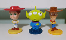 TOY STORY CEREAL TOYS LOT OF 3 BOBBLE HEADS FROM KELLOGGS CEREAL!WOODY JESSIE