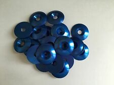 Kart 25 x M8 x 35mm Countersunk Blue Anodised Alloy Washer Pack of Twenty Five