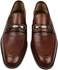 TESTONI BROWN LOAFER WITH BIT-8-MADE IN ITALY