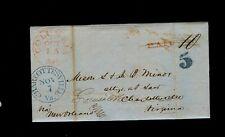1845 CHARLOTTESVILLE Va Forwarding Mark on COLUMBIA ARKANSAS - Johnson Chapman