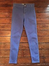 Moto Topshop Joni Skinny Jeans Blue High Waist Sz 10 W28 To Fit L30 Nb76