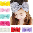 Toddler Baby Girls Teen Soft Lace Bow Elastic Hairband Headband Hair Accessories