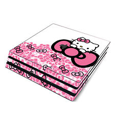 Skin Decal Cover Sticker for Sony PS4 Pro - Hello Kitty Pink Bow Princess