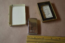 VINTAGE  Unused  Zippo Bradford Polished Slim Lighter Princess & Tiger #1421