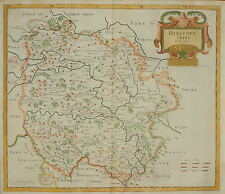 HEREFORDSHIRE BY ROBERT MORDEN FOR CAMDEN'S BRITANNIA 1695.