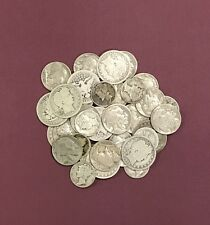 Antique Coin Collection of Barber Quarter .25c, Mercury .10c, Buffalo .05c