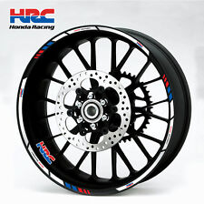 Honda HRC motorcycle wheel decals 12 rim stickers laminated set cbr 1000rr 600rr