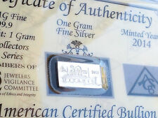 50 Pack of ANNIVERSARY TITANIC INGOT WITH COA 1 Gram AG Bars 99.9 Fine SILVER