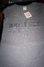 NWT WOMENS VICTORIAS SECRET PINK LIMITED EDITION CHICAGO WHITE SOX  T SHIRT-XS