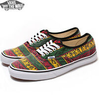 Vans Authentic (Van Doren) Rasta/Tribal Surf Men's Skate Shoes SIZE 11
