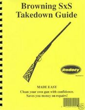 Browning S/S BSS Side by Side Shotgun Takedown Disassembly Assembly Guide Radocy