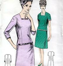 "RARE Vintage 60s Mod DRESS Sewing Pattern UNUSED Bust 42"" Size 18 Retro EVENING"