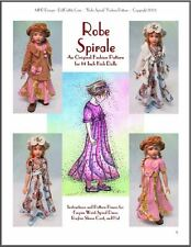 """Robe Spirale"" Fashion Pattern for Kish Chrysalis Dolls"