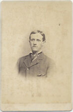 CABINET CARD, YOUNG MAN WITH THIN LIPS AND A LARGE NOSE, LEOMINSTER, MA.