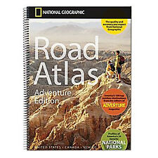 2016 National Geographic Adventure Road Atlas USA Canada Mexico - Spiral NEW