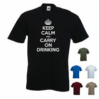 'Keep calm and carry on Drinking'. - Funny mens T-shirt. S-XXL