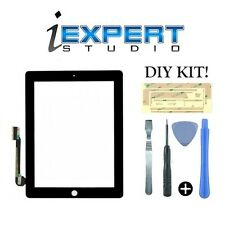 NEW OEM Black Digitizer Touch Screen Glass Replacement for iPad 3, 4 + TOOLS