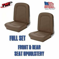 1964 &1965 Mustang Fastback Seat Upholstery Palomino Front & Rear IN STOCK!!