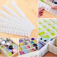 6 x Adjustable Plastic Drawer Dividers Organizer Makeup Storage Box Partition