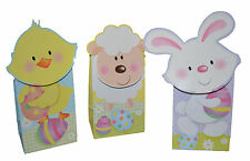Happy Easter Treat bags 3  in pack  - 3 Assorted Designs Per Pack , Handcrafted