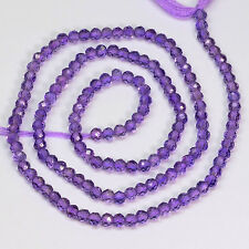 Lavender 2.7MM Purple Amethyst Faceted Rondelle Beads 13.5 inch Strand