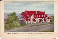 AUBERGE DU FAUBOURG, ST. JEAN PORT-JOLI, QUEBEC CANADA Bi-fold card