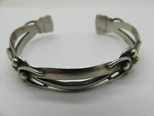 VINTAGE ISIDRO GARCIA MARICELA MEXICAN TAXCO  950 STERLING SILVER CUFF BRACELET