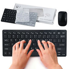 Mini Funkmaus Mouse + Funk Tastatur Keyboard Set 2.4G Wireless Für PC Laptop NEU