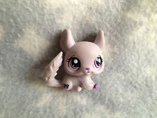 Littlest Pet Shop #2014 grey gray chinchilla with purple eyes