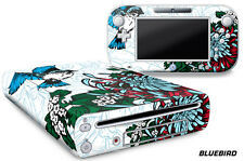 Skin Decal Wrap for Nintendo Wii U Gaming Console & Controller Sticker BLUEBIRD
